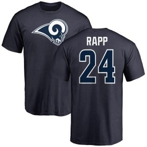 Taylor Rapp Los Angeles Rams Youth Navy Name & Number Logo T-Shirt -
