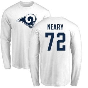 Aaron Neary Los Angeles Rams Men's White Name & Number Logo Long Sleeve T-Shirt -