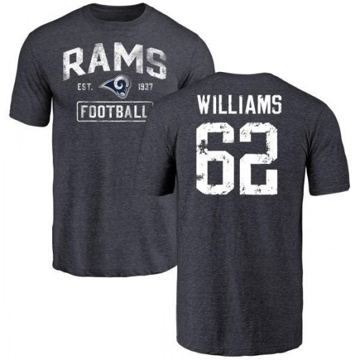 Jonah Williams Los Angeles Rams Youth Navy Distressed Name & Number Tri-Blend T-Shirt -
