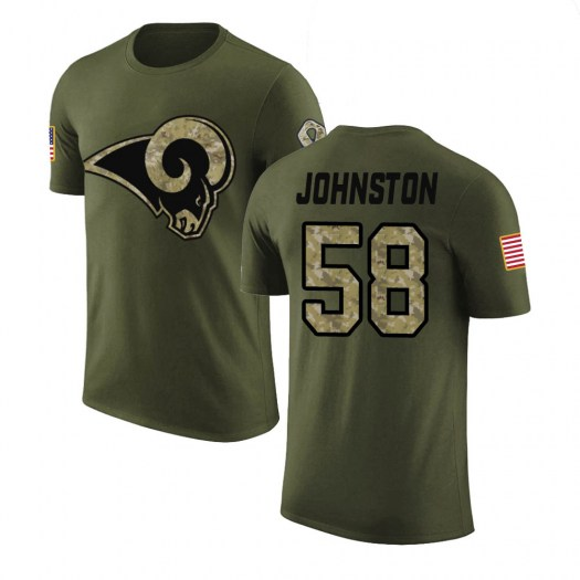Clay Johnston Los Angeles Rams Youth Legend Olive Salute to Service T-Shirt